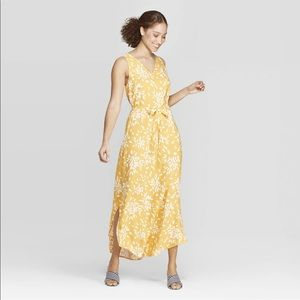 A New Day Yellow Floral Sleeveless Maxi Dress